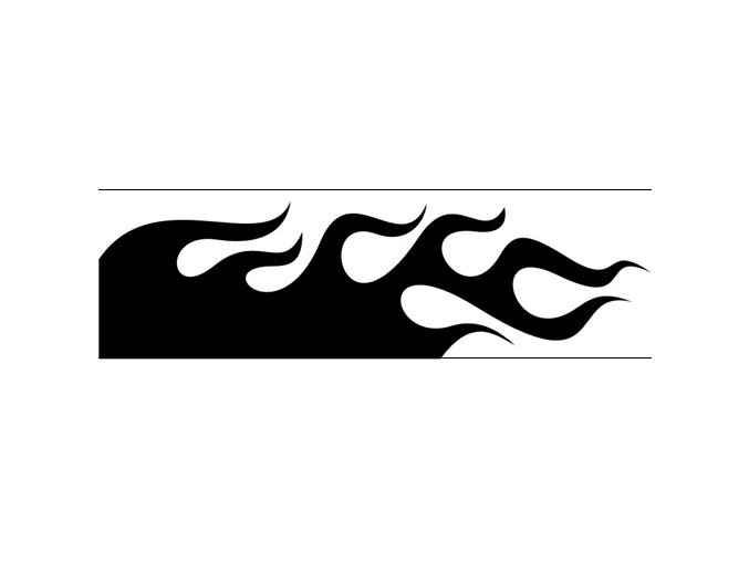 Airbrush šablóna plamene /flames C116