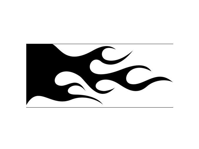 Airbrush šablóna plamene /flames C119