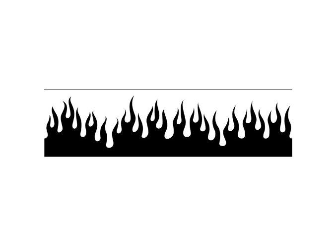 Airbrush šablóna plamene /flames C204