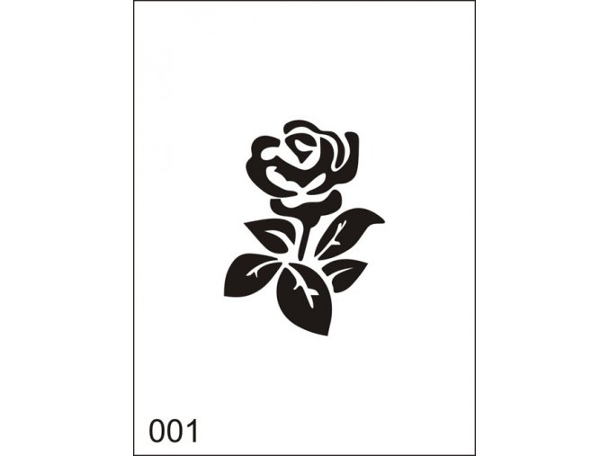 Airbrush tetovacia šablona pre jednorazové použitie M001