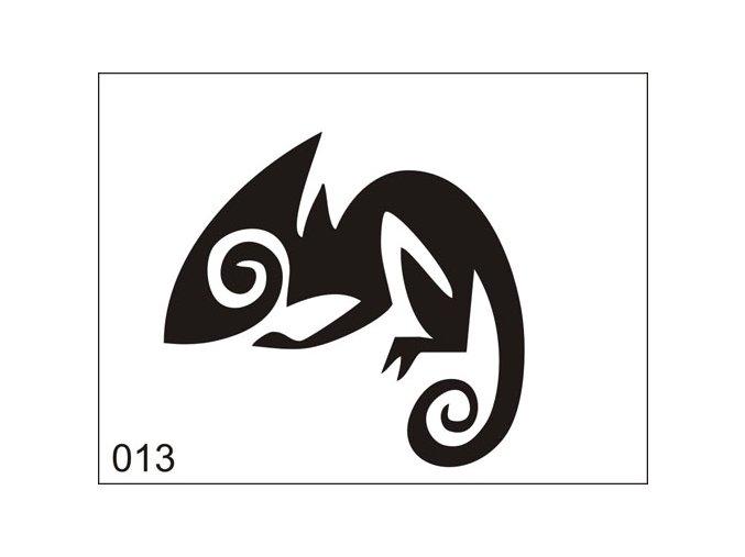 Airbrush tetovacia šablona pre jednorazové použitie M013