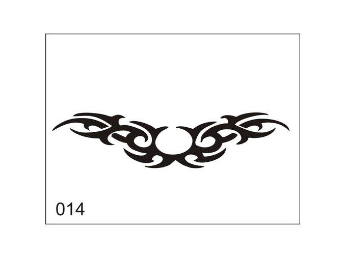 Airbrush tetovacia šablona pre jednorazové použitie M014