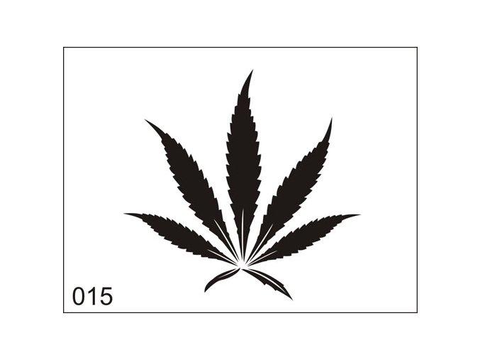 Airbrush tetovacia šablona pre jednorazové použitie M015