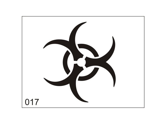 Airbrush tetovacia šablona pre jednorazové použitie M017