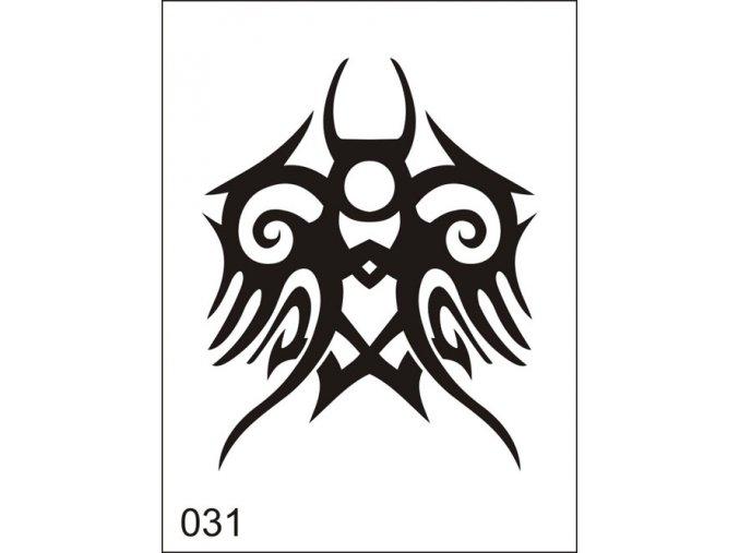 Airbrush tetovacia šablona pre jednorazové použitie M031