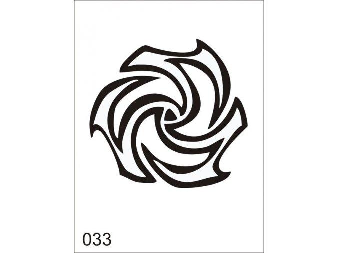 Airbrush tetovacia šablona pre jednorazové použitie M033