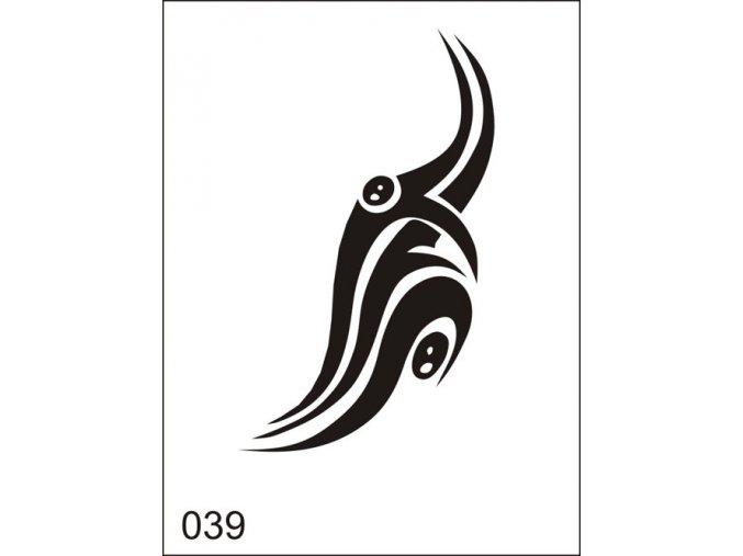 Airbrush tetovacia šablona pre jednorazové použitie M039