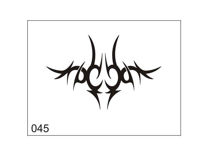 Airbrush tetovacia šablona pre jednorazové použitie M045