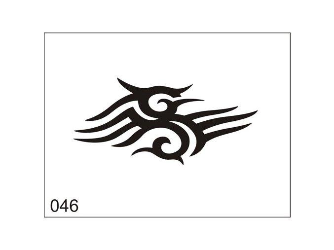 Airbrush tetovacia šablona pre jednorazové použitie M046