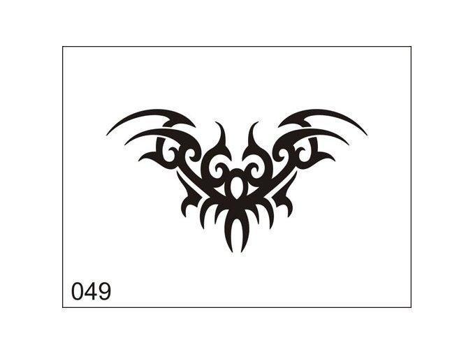Airbrush tetovacia šablona pre jednorazové použitie M049