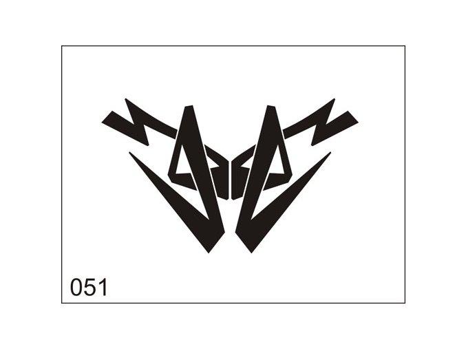 Airbrush tetovacia šablona pre jednorazové použitie M051