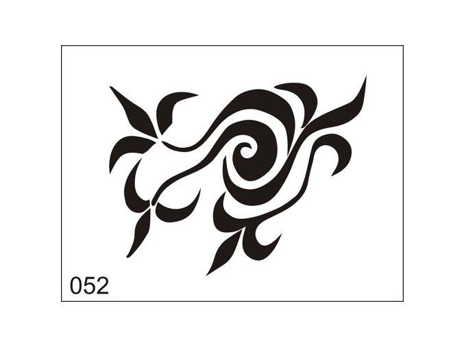 Airbrush tetovacia šablona pre jednorazové použitie M052