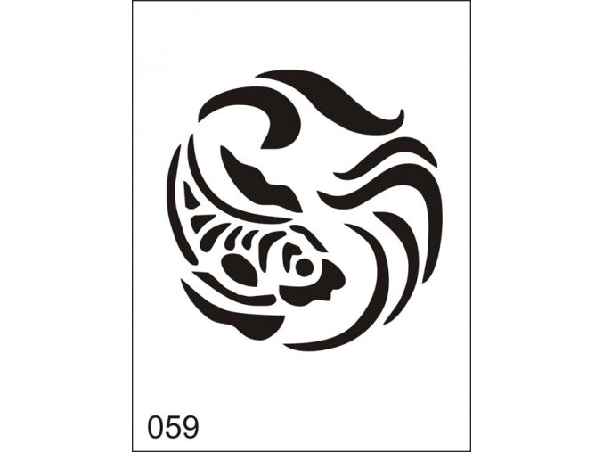 Airbrush tetovacia šablona pre jednorazové použitie M059