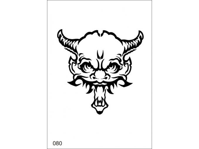 Airbrush tetovacia šablona pre jednorazové použitie MO80