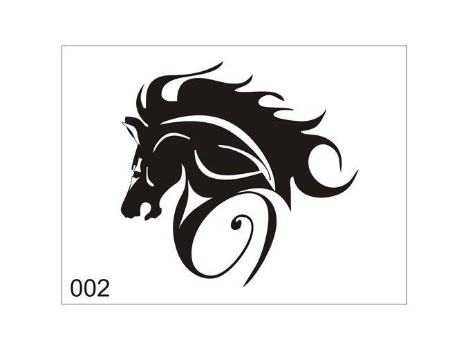 Airbrush tetovacia šablóna pre jednorazové použitie V002