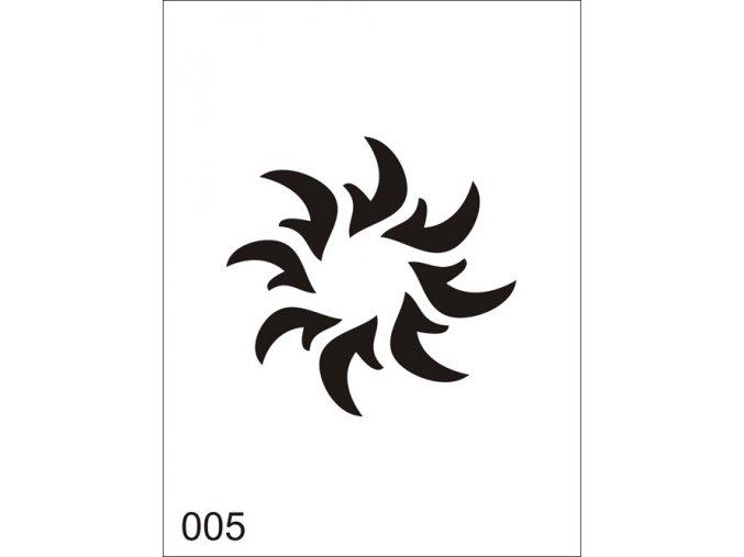 Airbrush tetovacia šablóna pre jednorazové použitie V005