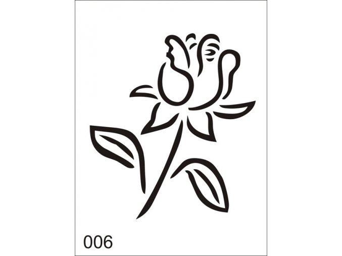 Airbrush tetovacia šablóna pre jednorazové použitie V006