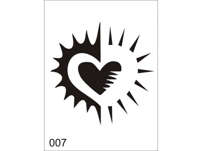 Airbrush tetovacia šablóna pre jednorazové použitie V007
