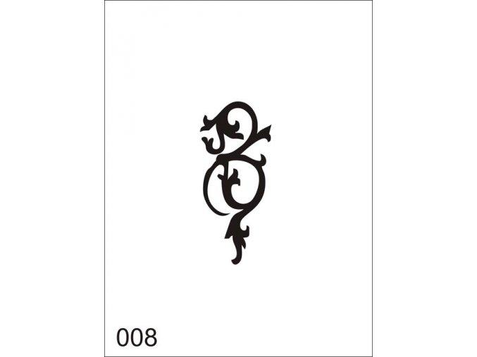 Airbrush tetovacia šablóna pre jednorazové použitie V008