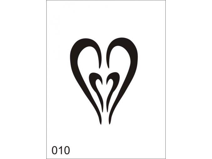 Airbrush tetovacia šablóna pre jednorazové použitie V010