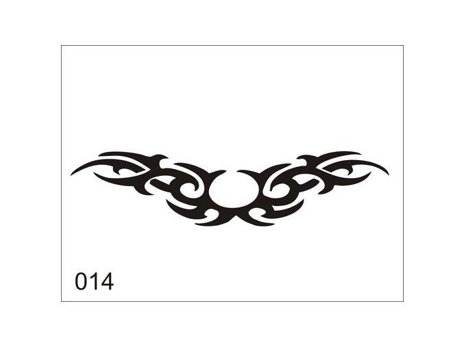 Airbrush tetovacia šablóna pre jednorazové použitie V014