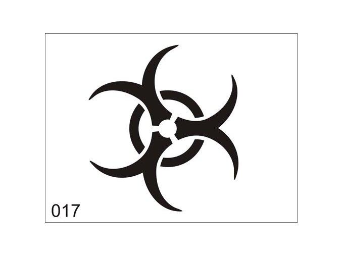 Airbrush tetovacia šablóna pre jednorazové použitie V017