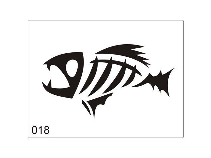 Airbrush tetovacia šablóna pre jednorazové použitie V018