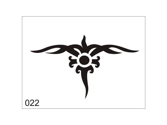 Airbrush tetovacia šablóna pre jednorazové použitie V022