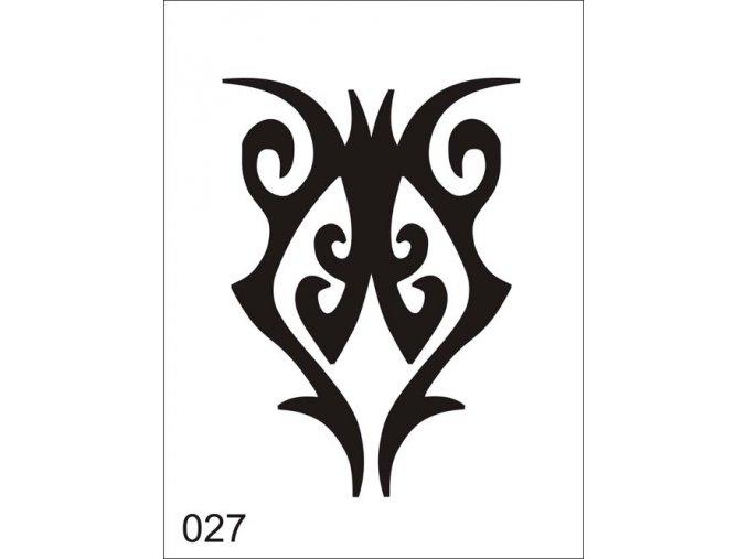 Airbrush tetovacia šablóna pre jednorazové použitie V027
