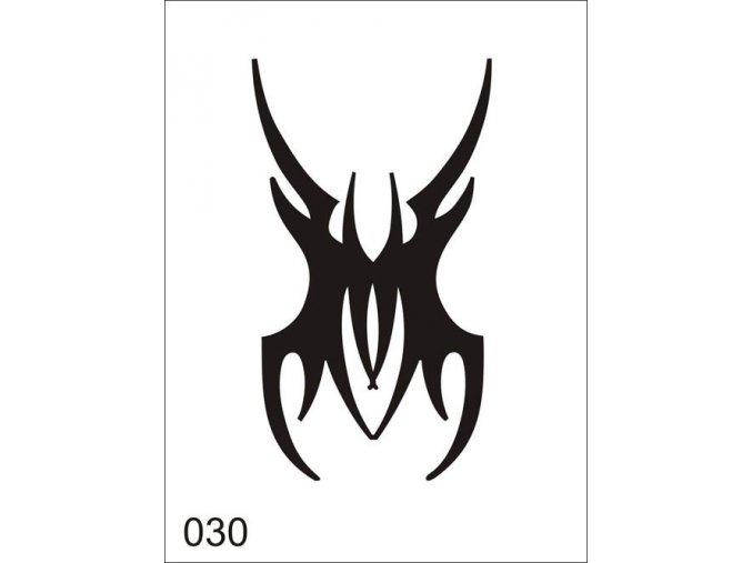 Airbrush tetovacia šablóna pre jednorazové použitie V030