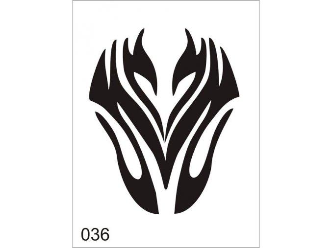 Airbrush tetovacia šablóna pre jednorazové použitie V036
