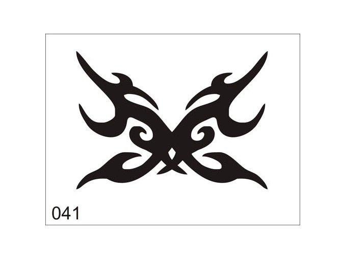 Airbrush tetovacia šablóna pre jednorazové použitie V041