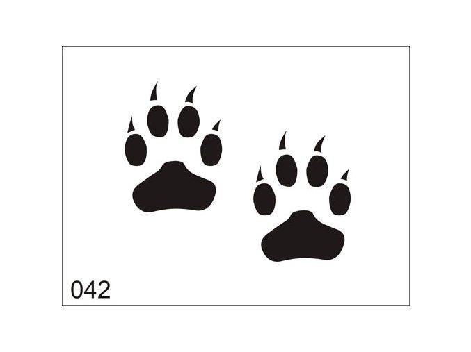 Airbrush tetovacia šablóna pre jednorazové použitie V042