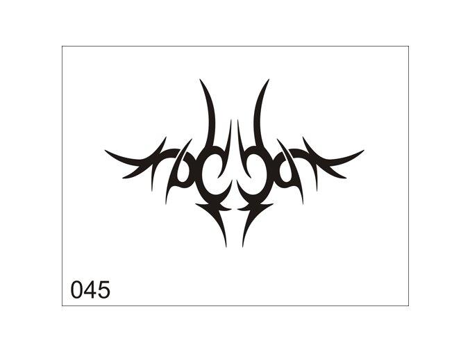 Airbrush tetovacia šablóna pre jednorazové použitie V045