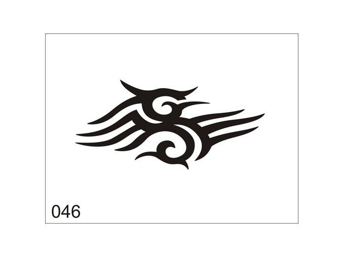 Airbrush tetovacia šablóna pre jednorazové použitie V046