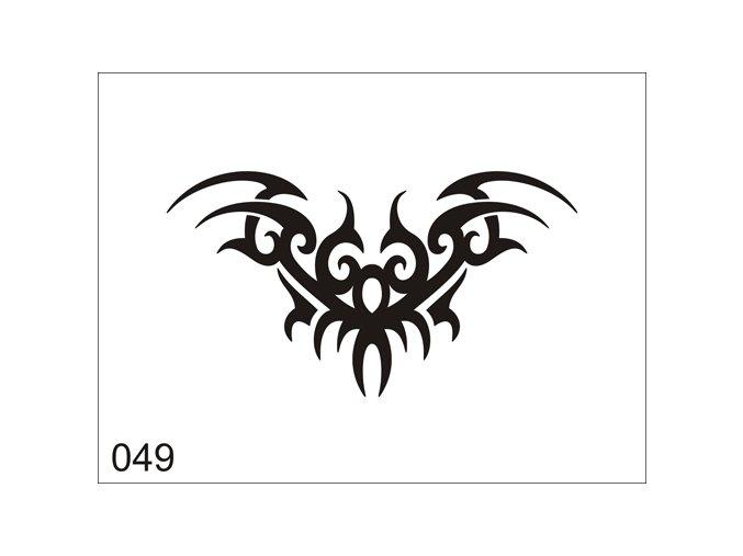 Airbrush tetovacia šablóna pre jednorazové použitie V049