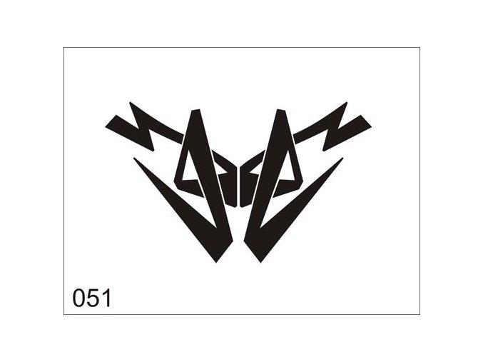 Airbrush tetovacia šablóna pre jednorazové použitie V051