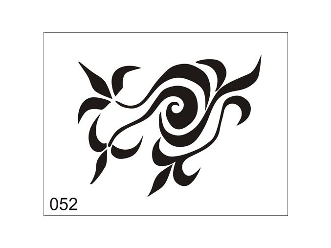 Airbrush tetovacia šablóna pre jednorazové použitie V052