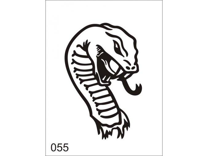 Airbrush tetovacia šablóna pre jednorazové použitie V055