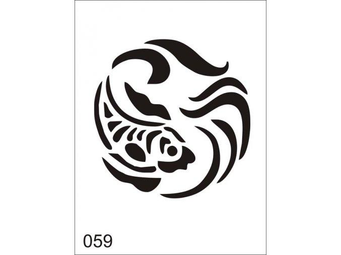 Airbrush tetovacia šablóna pre jednorazové použitie V059