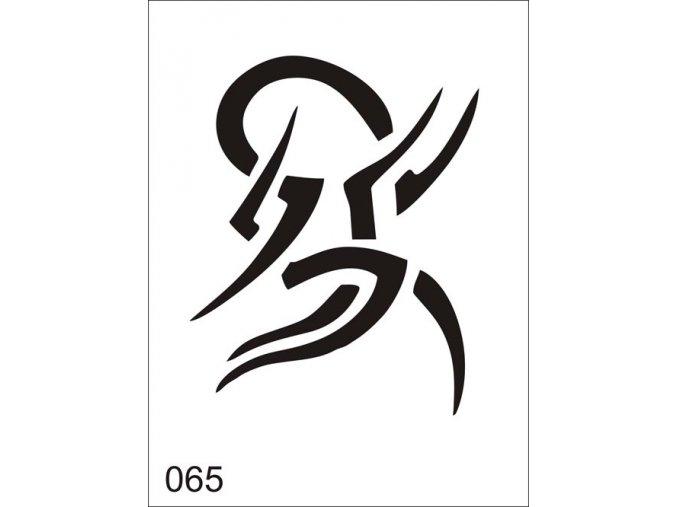 Airbrush tetovacia šablóna pre jednorazové použitie V065