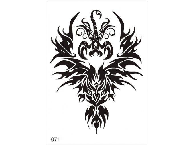 Airbrush tetovacia šablóna pre jednorazové použitie V071