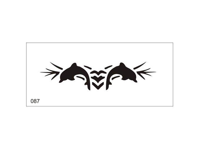 Airbrush tetovacia šablóna pre jednorazové použitie V087