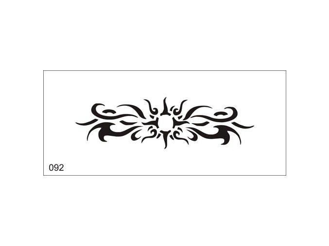 Airbrush tetovacia šablóna pre jednorazové použitie V092