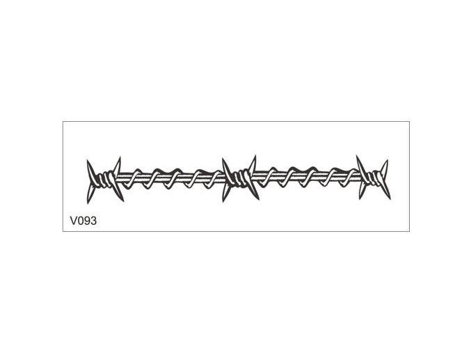 Airbrush tetovacia šablóna pre jednorazové použitie V093