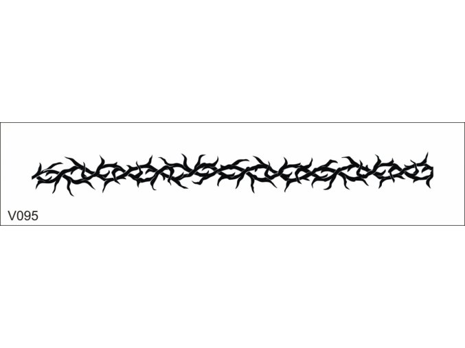 Airbrush tetovacia šablóna pre jednorazové použitie V095