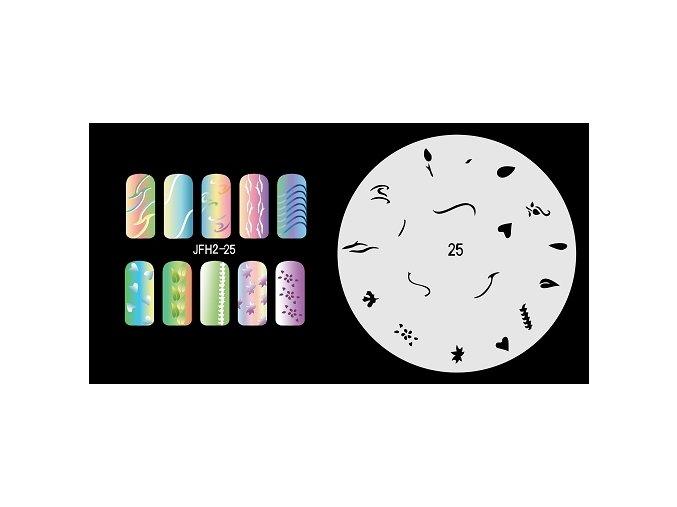 Šablona na nechty (airbrush nail art) Fengda  JFH02-025