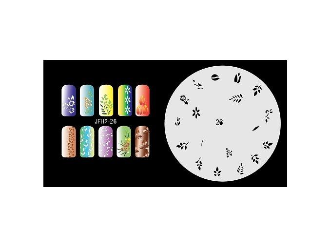 Šablona na nechty (airbrush nail art) Fengda  JFH02-026