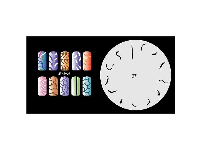 Šablona na nechty (airbrush nail art) Fengda  JFH02-027