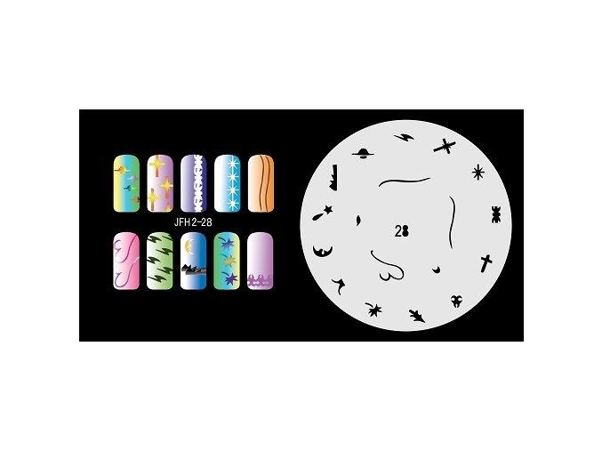 Šablona na nechty (airbrush nail art) Fengda  JFH02-028